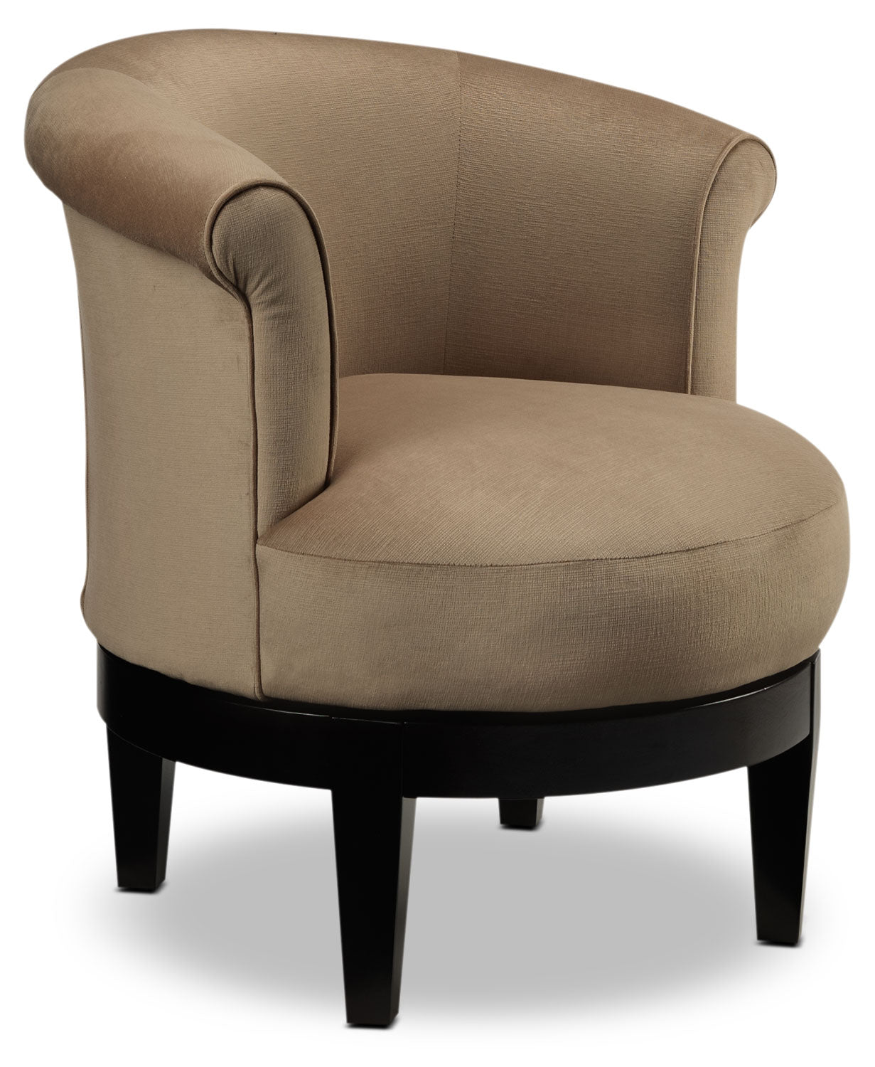 Kalosa Swivel Accent Chair: Attica Swivel Accent Chair - Coffee