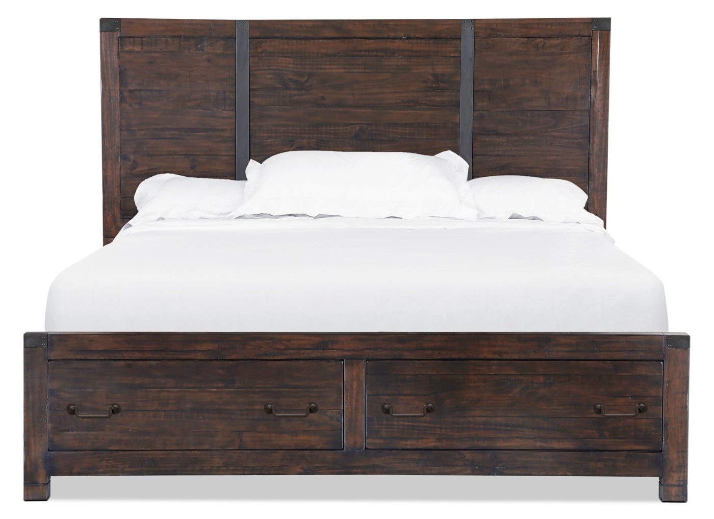 Pine Hill Queen Storage Bed Rustic Pine Leon S