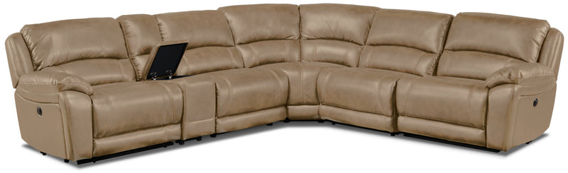 Santorini 6-Piece Power Reclining Sectional - Taupe