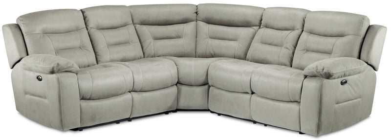 Charlotte 3-Piece Power Reclining Sectional - Silver Grey