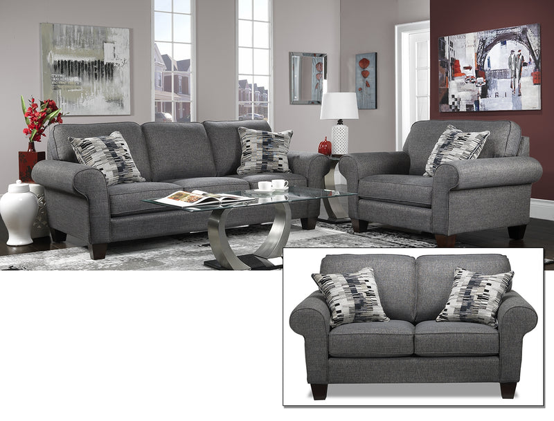 Drake 3 Pc. Living Room Package - Grey