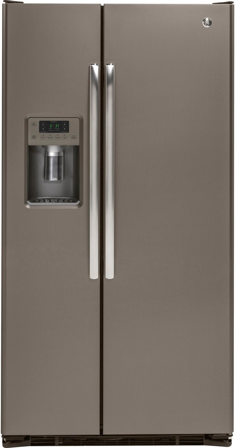 GE Slate Counter-Depth Side-By-Side Refrigerator (21.9 Cu. Ft.) - GZS22DMJES