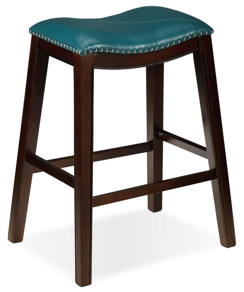 Texas Pub-Height Stool - Blue