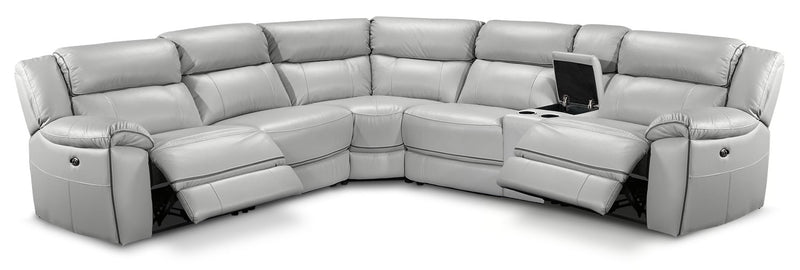 Holton 6-Piece Sectional w/ Two Recliners - Grey