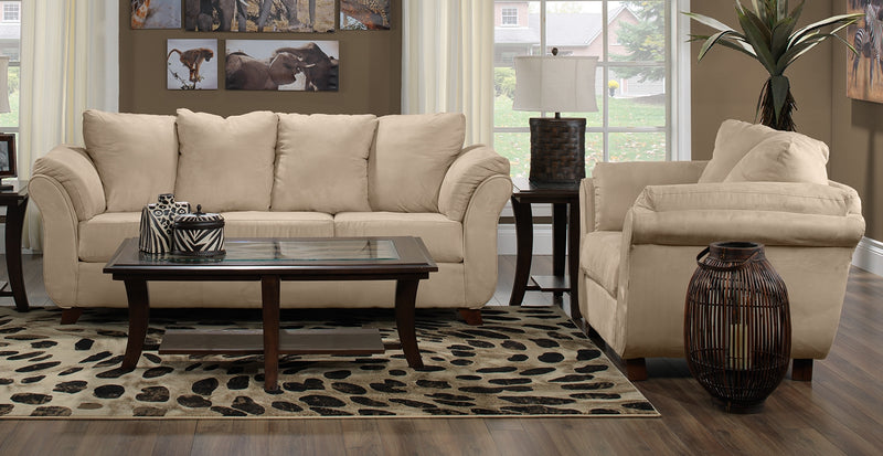 Collier 2 Pc. Living Room Package w/ Chair - Beige