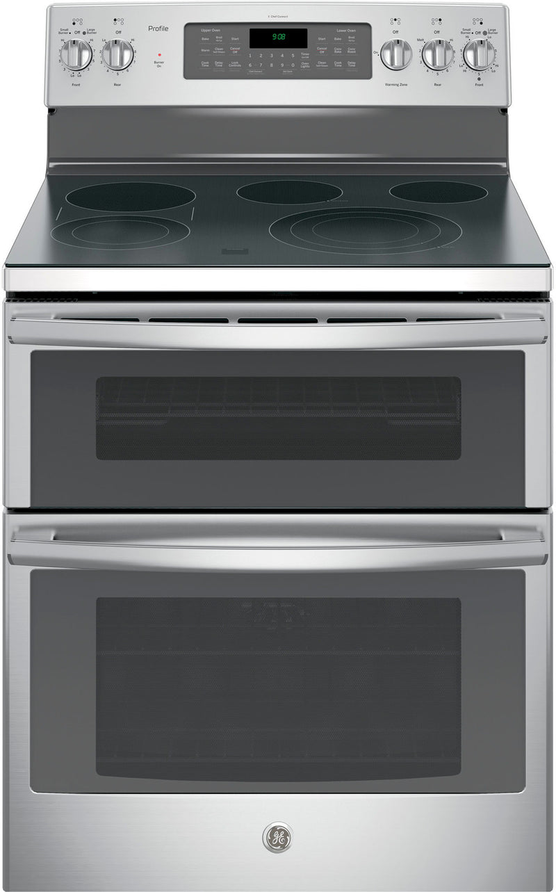 GE Profile Stainless Steel Freestanding Electric Double Oven Range (6.6 Cu. Ft.) - PCB980SJSS