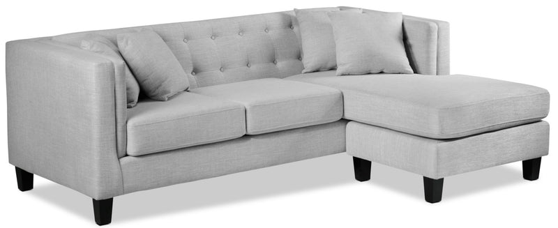 Astin Chaise Sofa - Grey