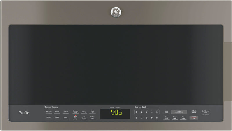 GE Profile Slate SpaceMaker Over-the-Range Microwave (2.1 Cu. Ft.) - PVM2188SLJC