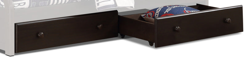 Starship Bunk Bed Pair of Drawers - Grey Espresso