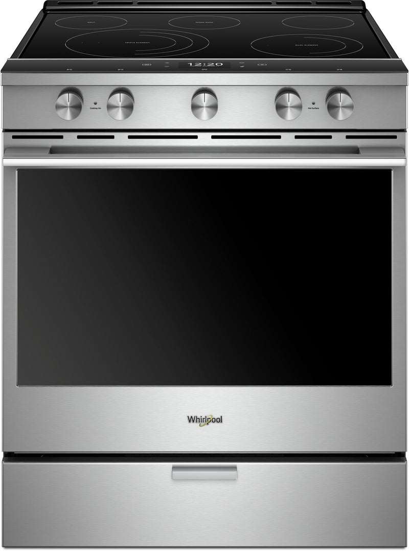 Whirlpool Stainless Steel Slide-In Electric True Convection Range (6.4 Cu. Ft.) - YWEEA25H0HZ