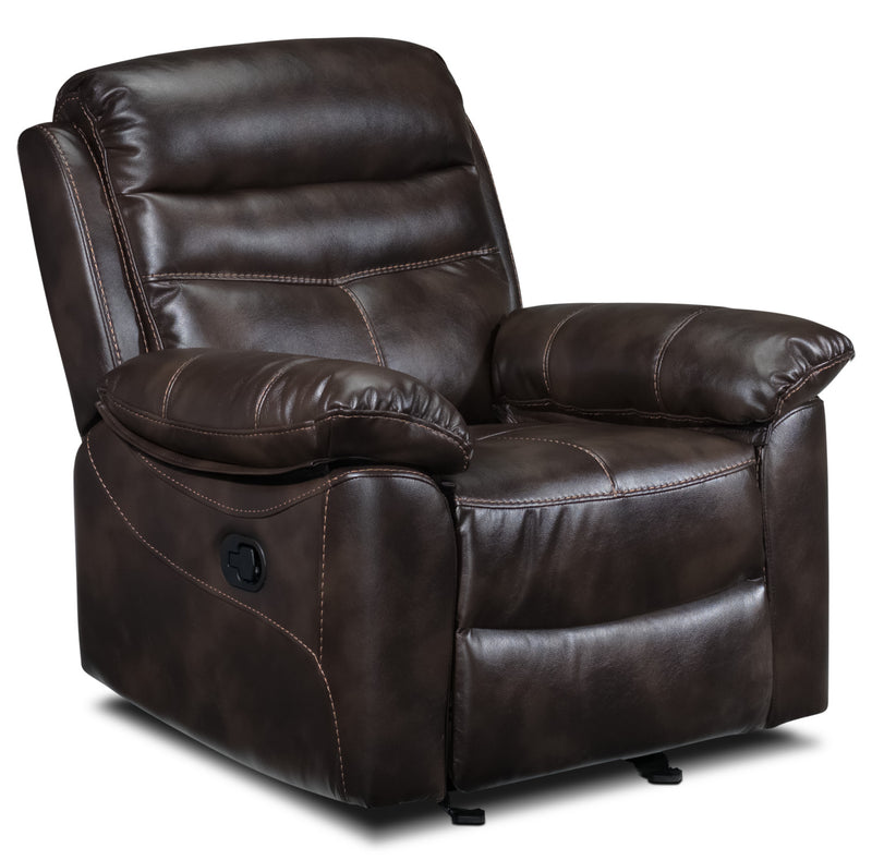 Devon Rocker Recliner - Brown