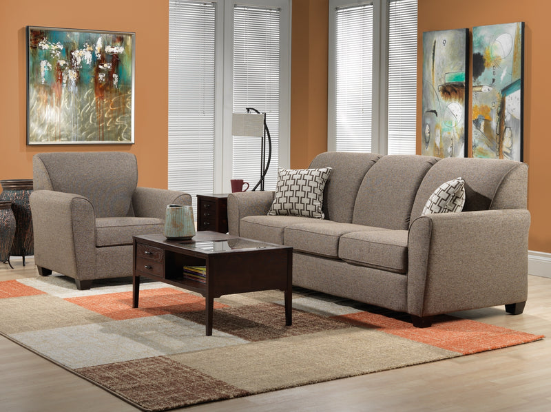 Ashby 2 Pc. Living Room Package w/ Chair - Brown