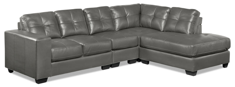 Meldrid 4-Piece Sectional with Right-Facing Chaise - Dark Grey