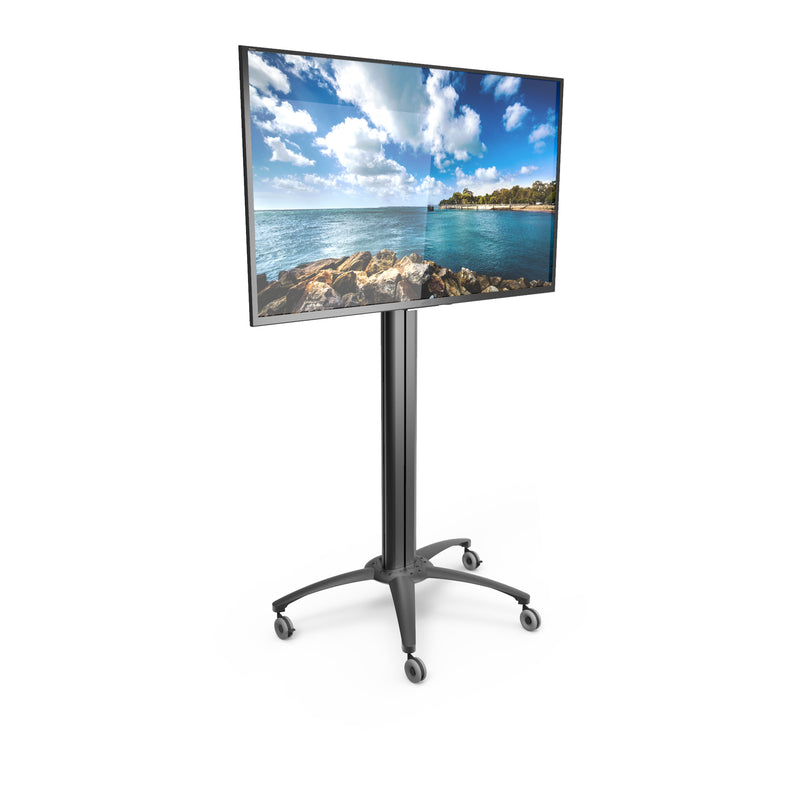 "Rolling Mobile TV Floor Stand with Built-in Powerbar for 37"" to 70"" TVs - MKX70"