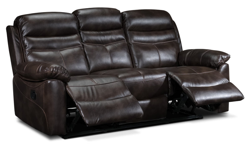 Leon's Devon Reclining Sofa - Brown