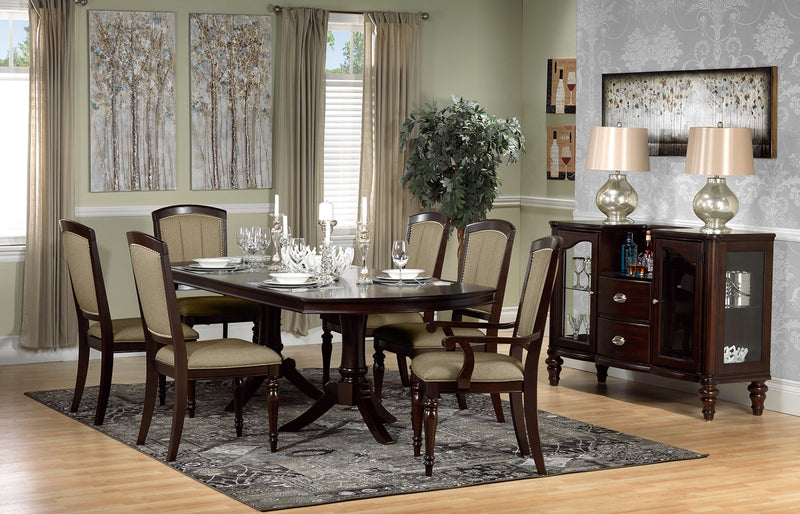 Thoreaux side chair dark cherry leon 39 s - Dining room picture ideas ...