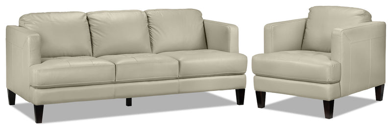 Walker Sofa and Chair Set - Smoke