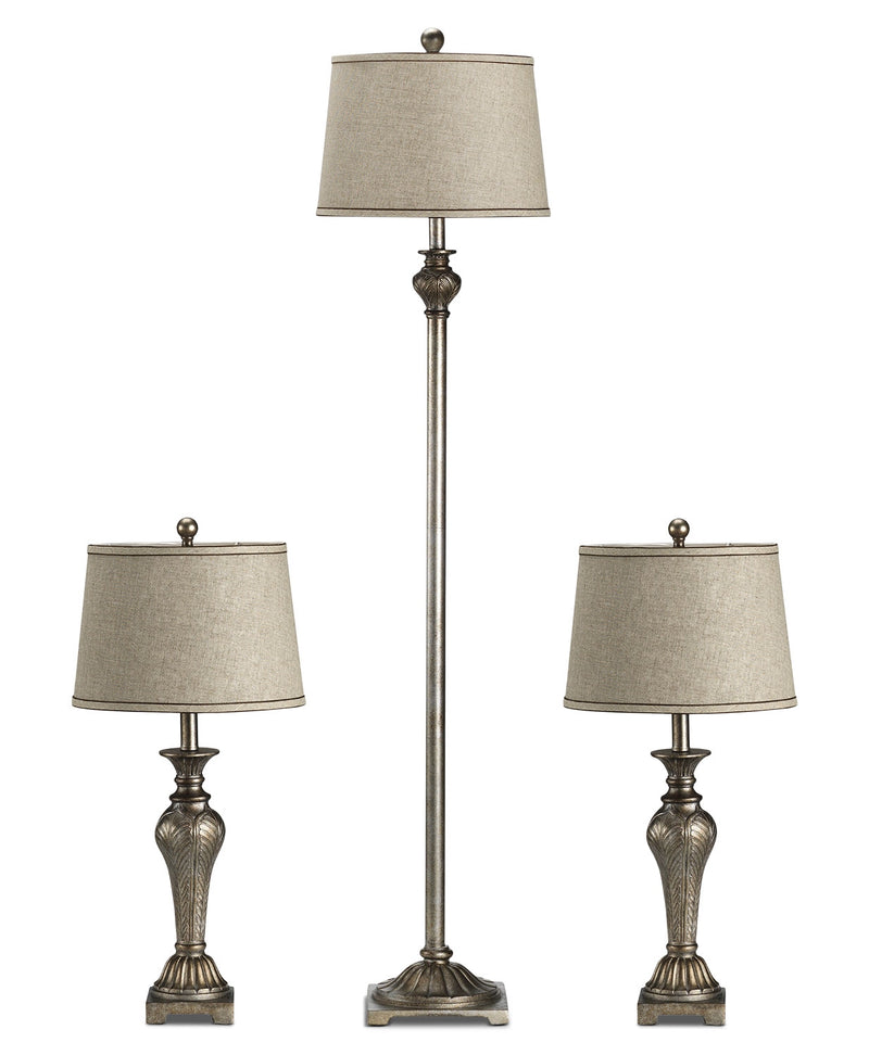 Classic Pewter 3-Pack Lamps - Bronze