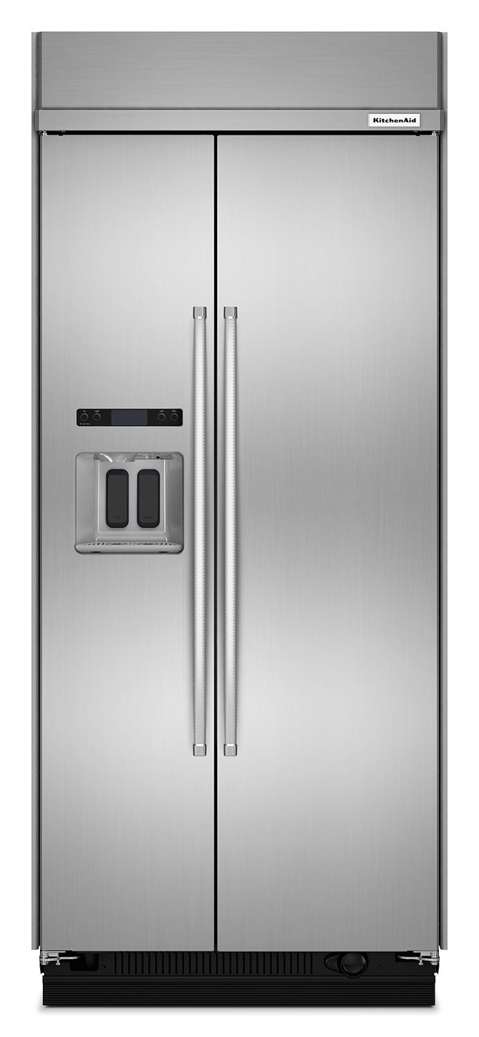 KitchenAid  Stainless Steel Side-by-Side Refrigerator (20.8 Cu. Ft.) - KBSD606ESS