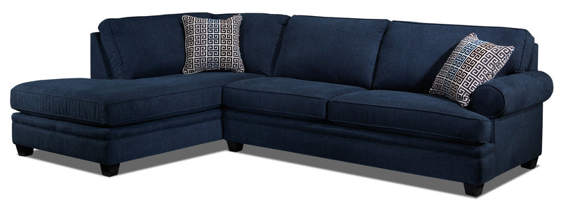 Tammy 2-Piece Sectional with Left-Facing Chaise - Blue