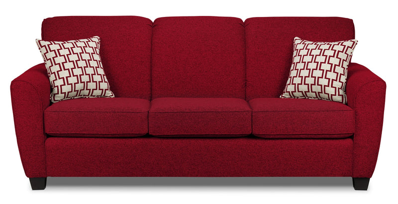 Ashby Queen Sofa Bed Red Leon S