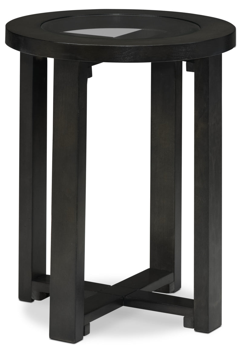 Emma End Table - Charcoal Grey