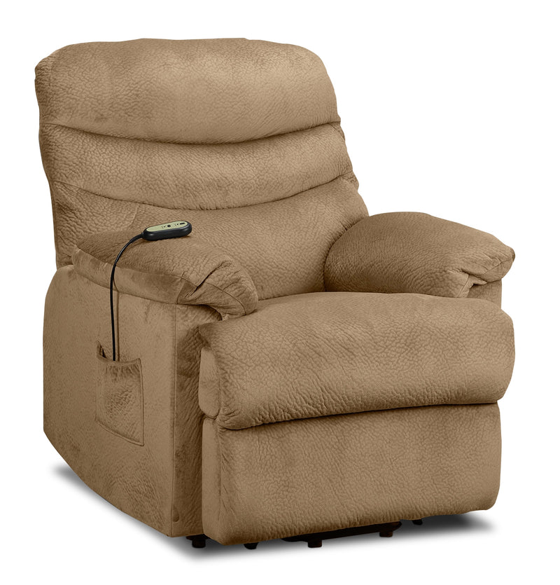 Bradey Power Lift Recliner - Camel