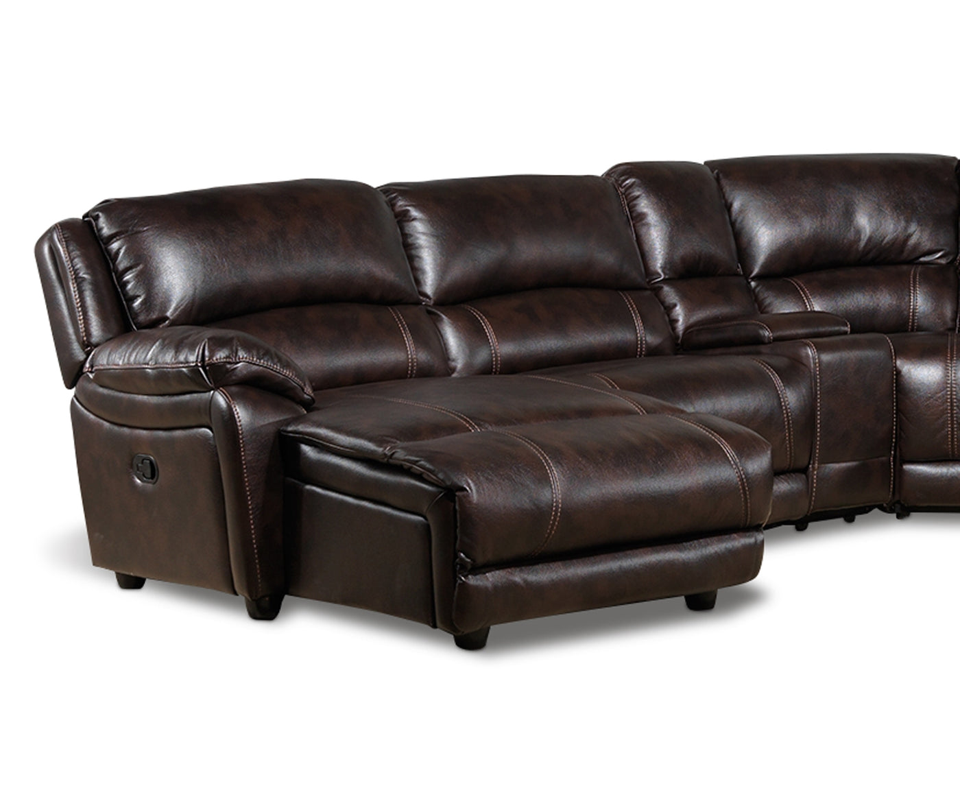 Santorini 6 Piece Power Sectional With Left Facing Chaise