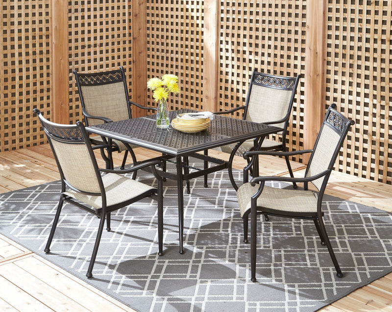 Manhattan 5-Piece Outdoor Dining Set - Light Brown