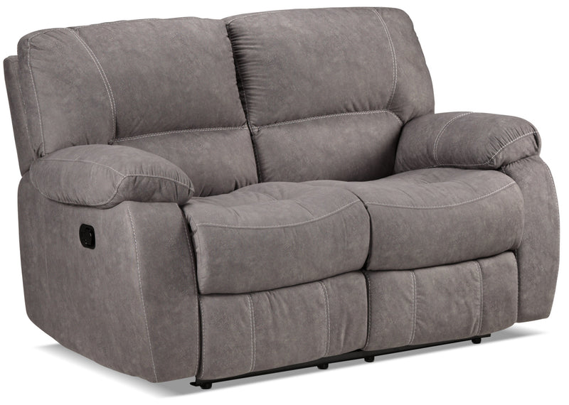 Peyton Reclining Loveseat - Grey