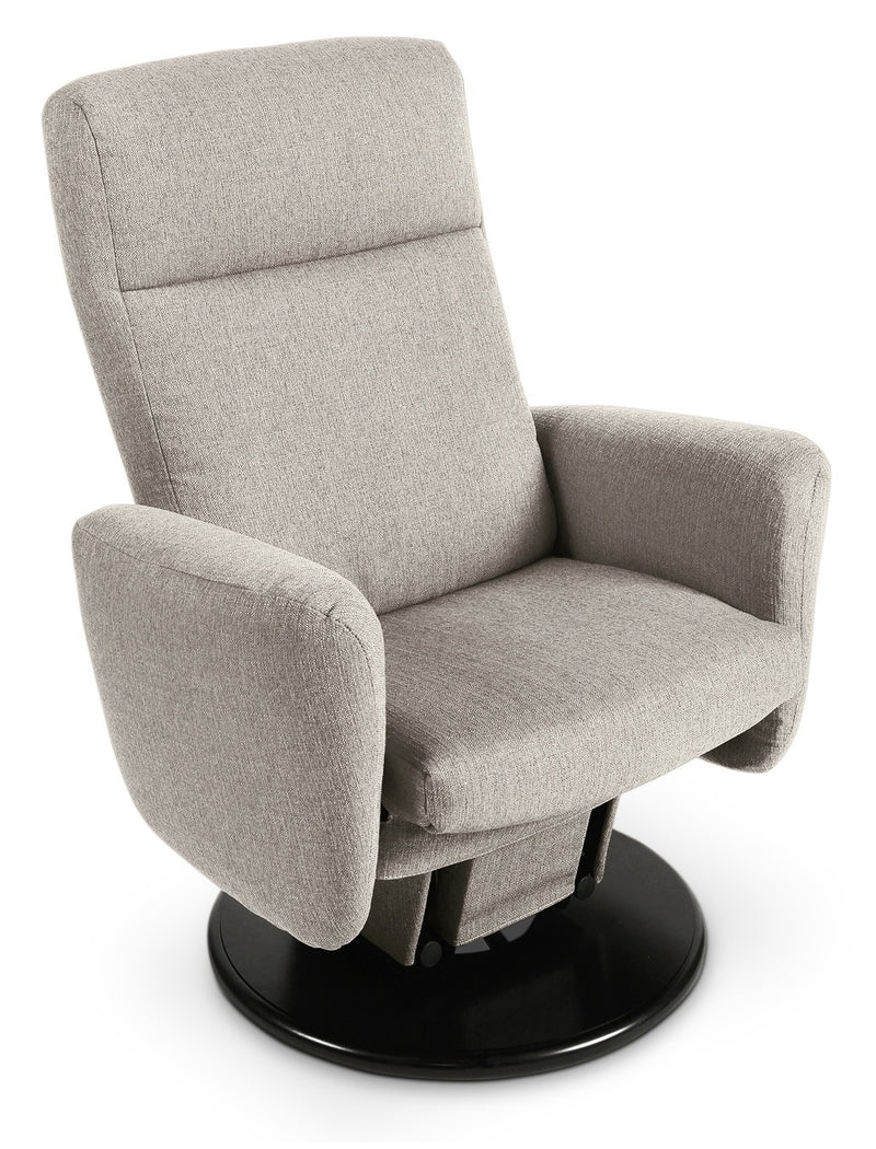 Cydney Swivel Glider Recliner - Light Grey