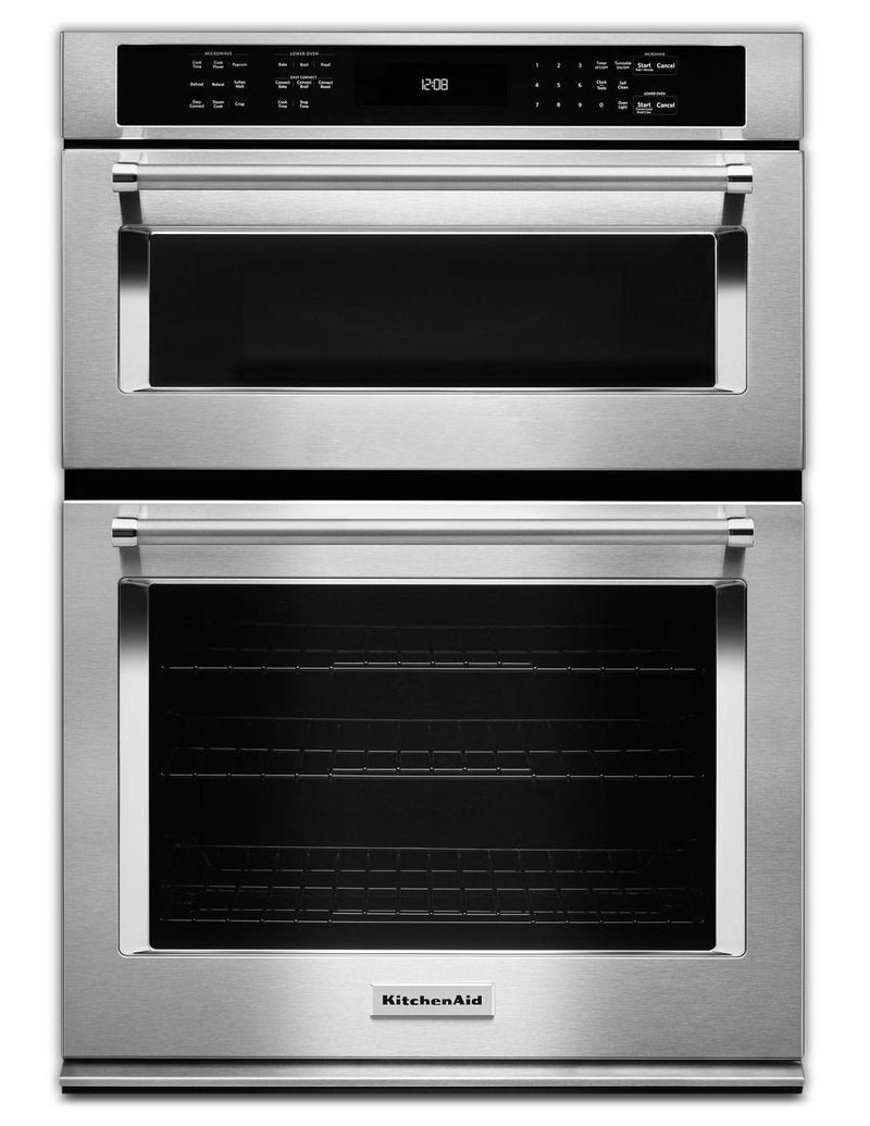 KitchenAid Stainless Steel Wall Oven (5.0 Cu. Ft.) w/ Microwave (1.4 Cu. Ft.) - KOCE500ESS