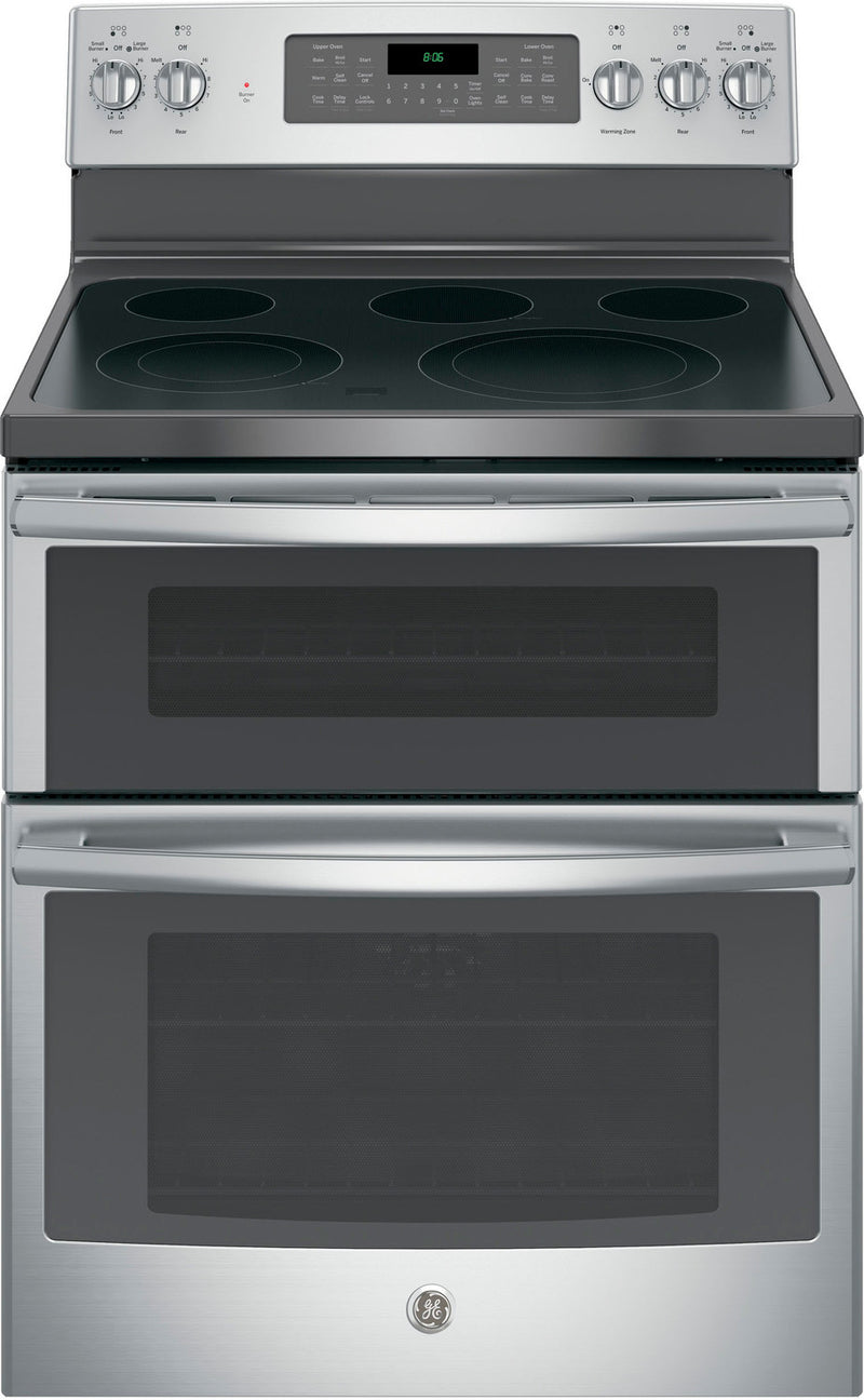 GE Stainless Steel Freestanding Electric Convection Double Oven Range (6.6 Cu. Ft.) - JCB865SJSS