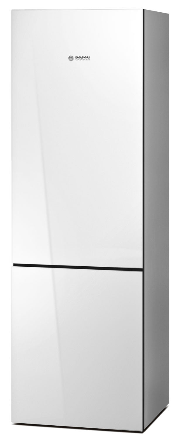 Bosch White Glass Bottom-Freezer Refrigerator (10.0 Cu. Ft.) - B10CB80NVW