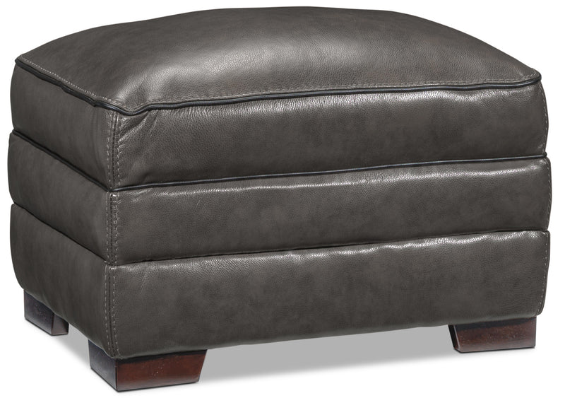 Stampede Ottoman - Charcoal