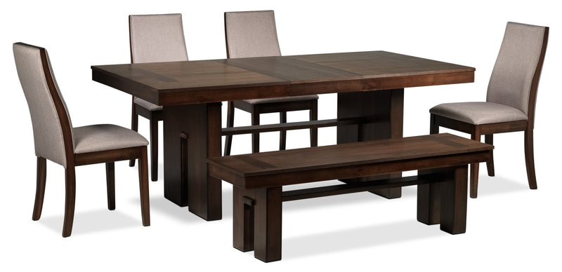 Lena 6-Piece Dining Room Set - Cherry