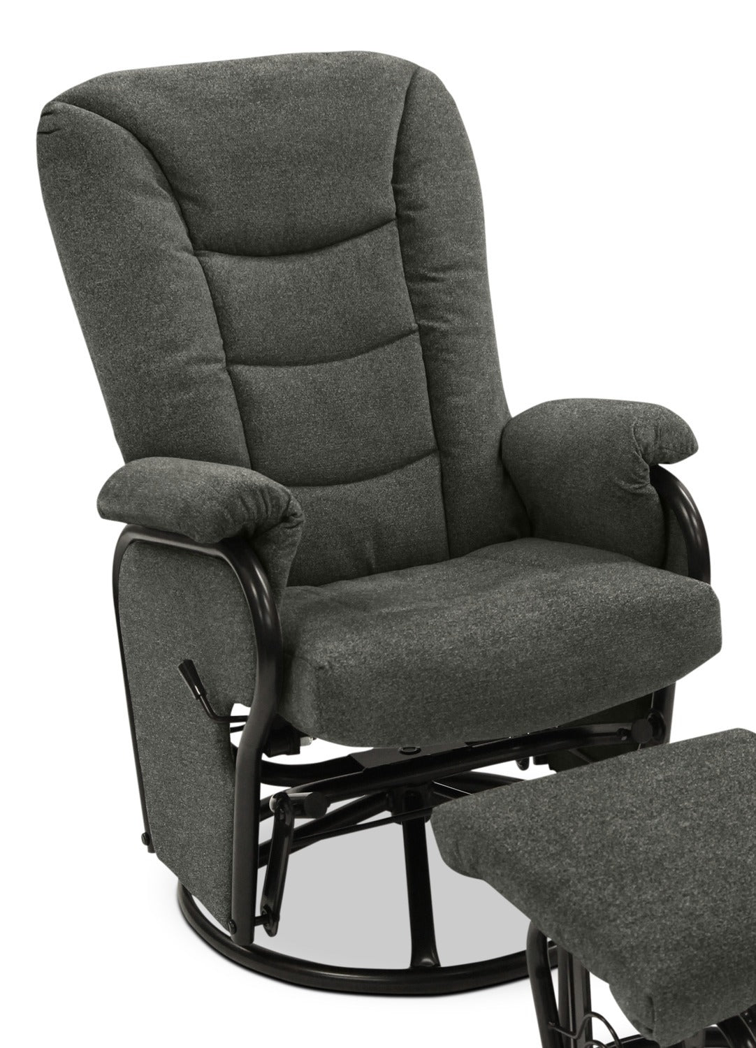 Hannah Swivel Glider Recliner Charcoal Leon S