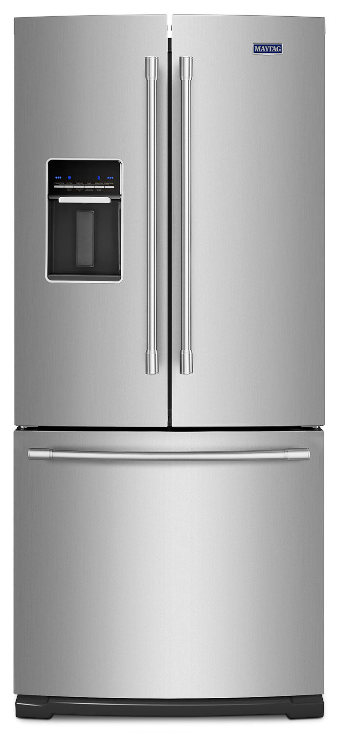 Image of Maytag Fingerprint-Resistant Stainless Steel French Door Refrigerator (20 Cu. Ft.) - MFW2055FRZ