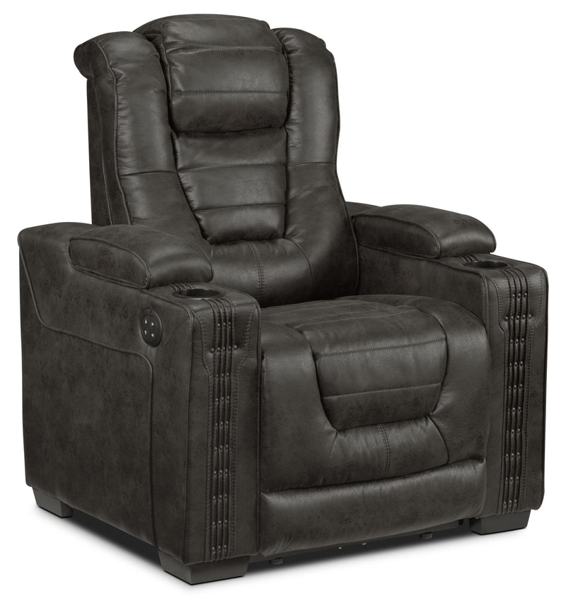 Dakota Power Recliner - Charcoal