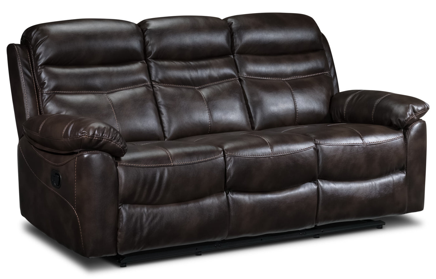 Devon Reclining Sofa - Brown