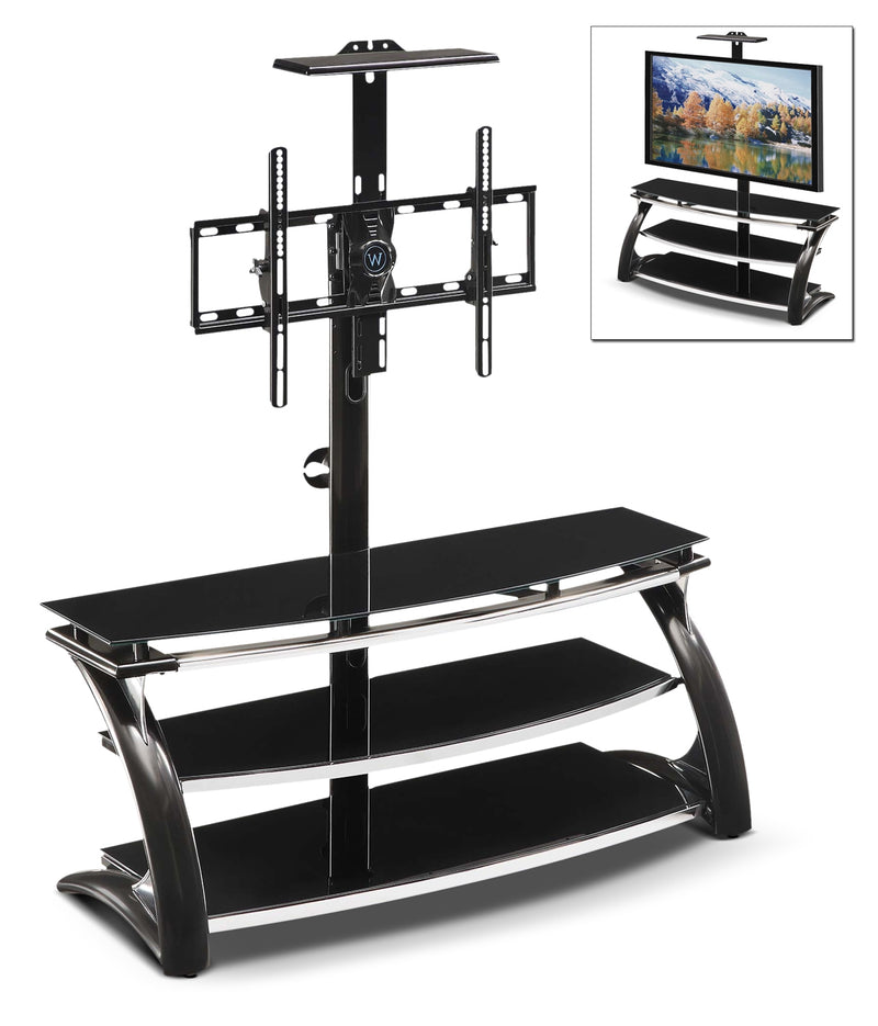 "Lucas 60"" TV Stand - Black"