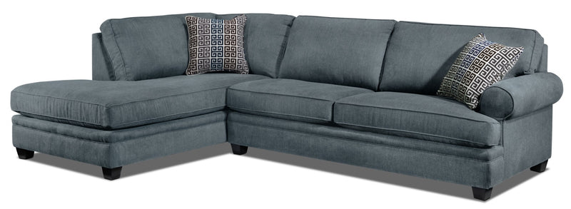 Tammy 2-Piece Sectional with Left-Facing Chaise - Sky