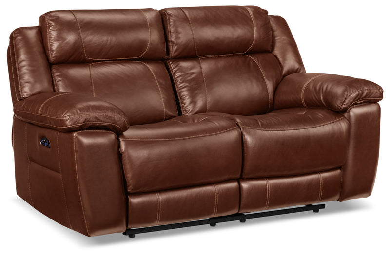 Solenn Power Reclining Loveseat - Hazelnut