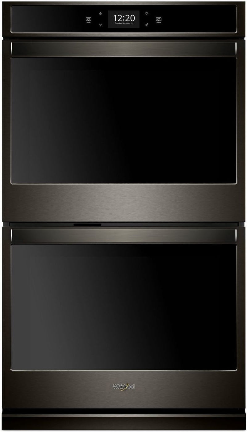 Whirlpool Black Stainless Steel Electric True Convection Double Wall Oven (8.6 Cu. Ft.) - WOD77EC7HV