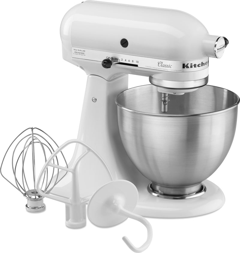 KitchenAid White  Classic Series 4.5-Quart Stand Mixer - K45SSWH