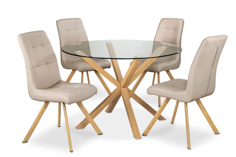 Clearview 5-Piece Dinette Set - Sand and Brown