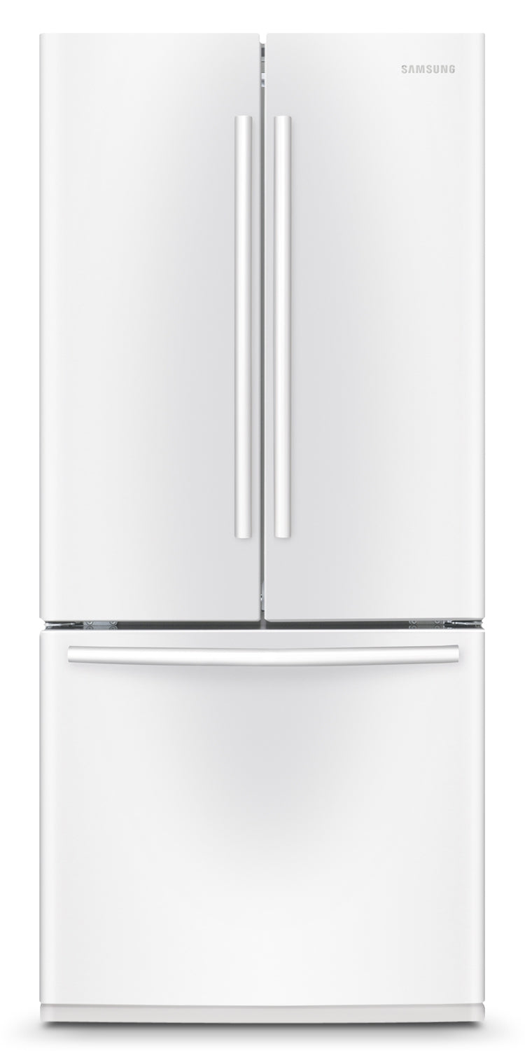 Image of Samsung White French Door Refrigerator (21.6 Cu. Ft.) - RF220NCTAWW