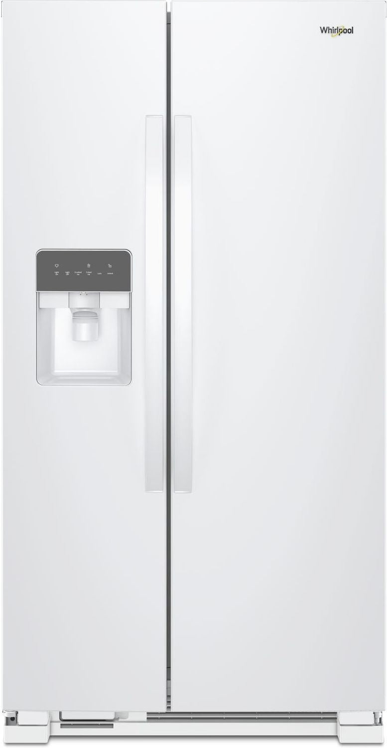 Whirlpool White Side-by-Side Refrigerator (25 Cu. Ft.) - WRS335SDHW
