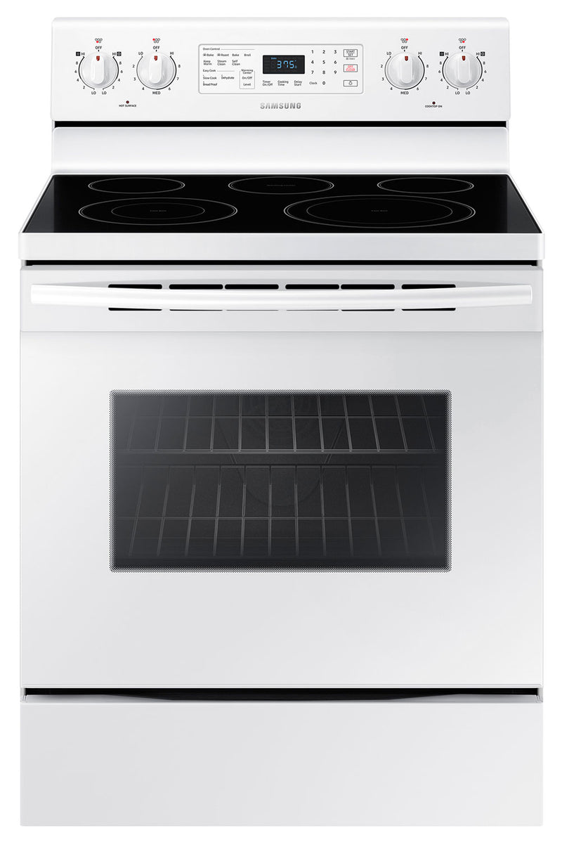 Samsung White Freestanding Electric Convection Range (5.9 Cu. Ft.) - NE59M4320SW/AC