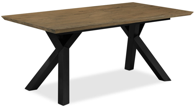 New York Dining Table - Weathered Oak and Black